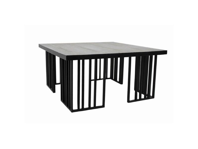 Table à manger design plateau bois rosa