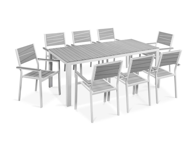 Table de jardin 8 places aluminium et polywood - Vente de Ensemble ...