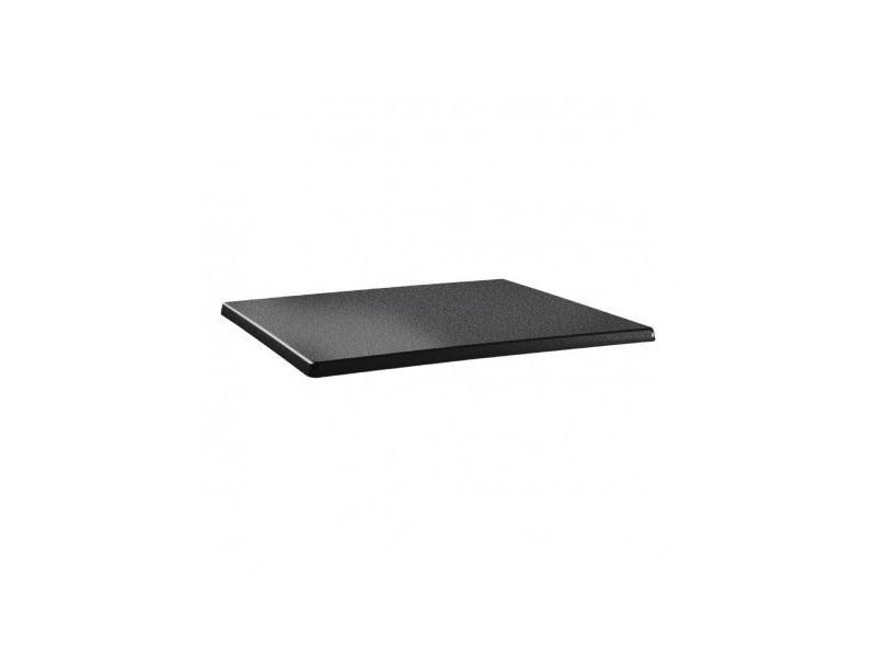 Plateau de table rectangulaire 120 x 80 cm anthracite