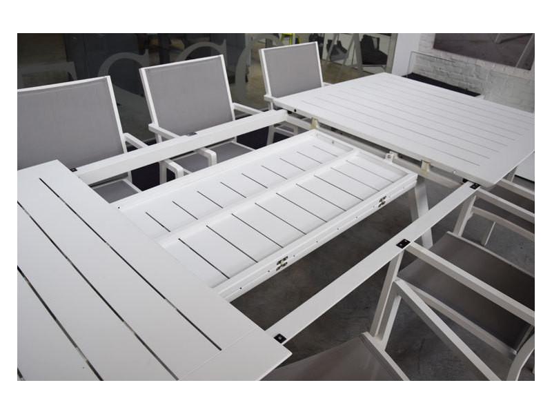 Salon ofanto table 200/300 alu blanc + 8 chaises brian - Vente de ...
