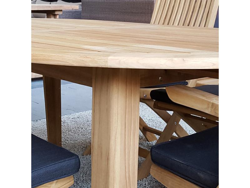 Table Ovale En Teck Massif 200 X 110 Cm Kork Vente De Gecko