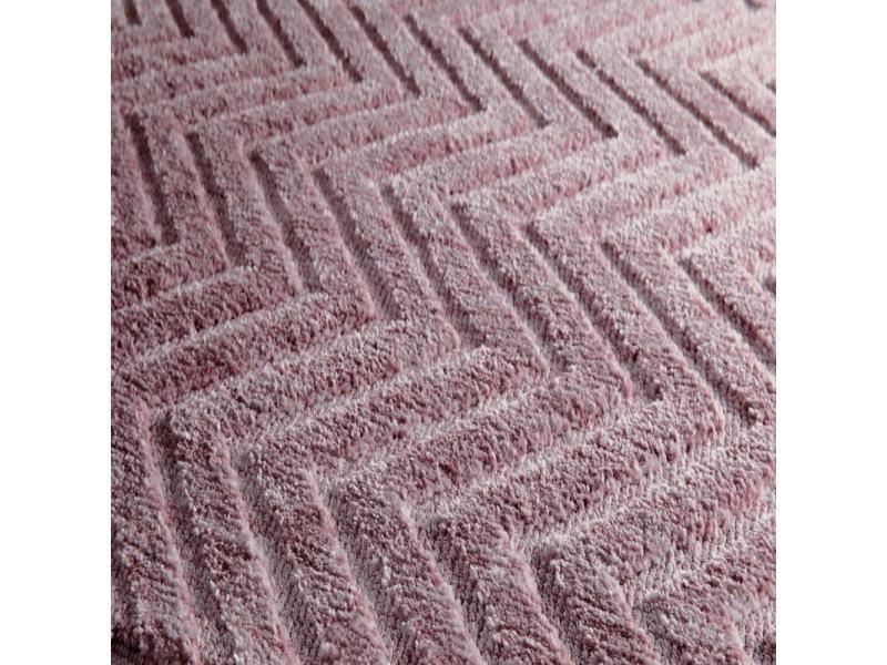 tapis moderne verona - couleur : tapis verona rose parme - taille ...