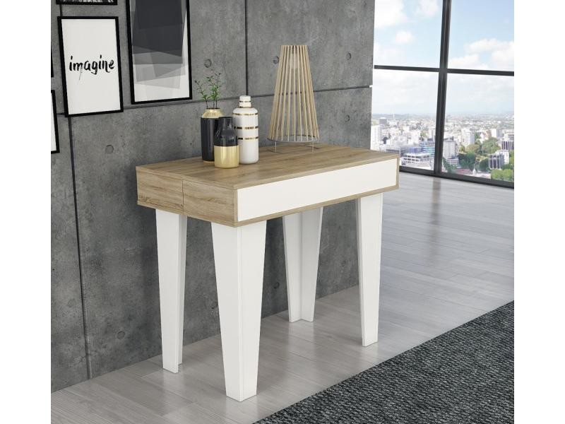 Table Console Extensible Rallonges Nordic Kl Max 140 Cm