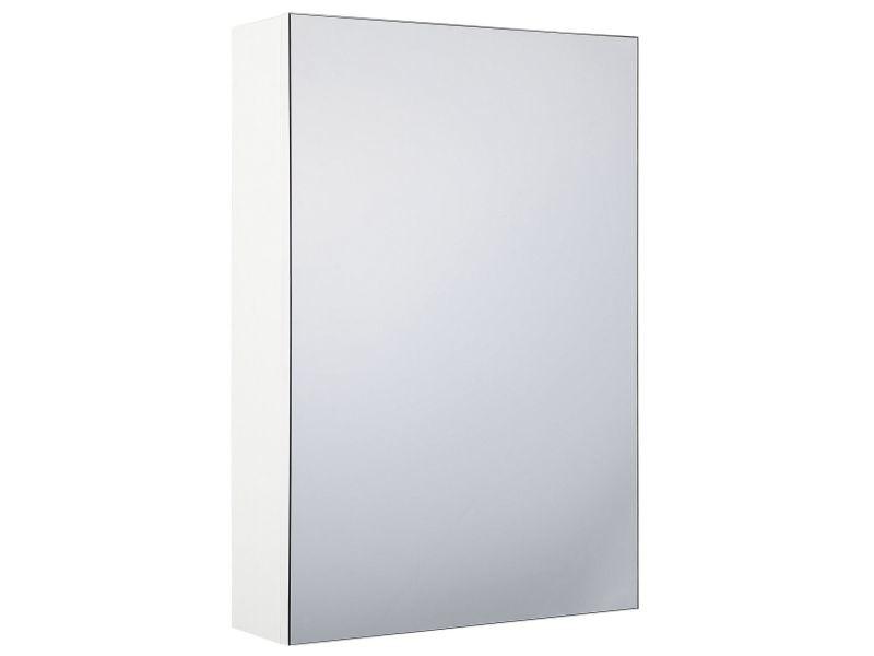Armoire de toilette blanche avec miroir 40 x 60 cm primavera 232746