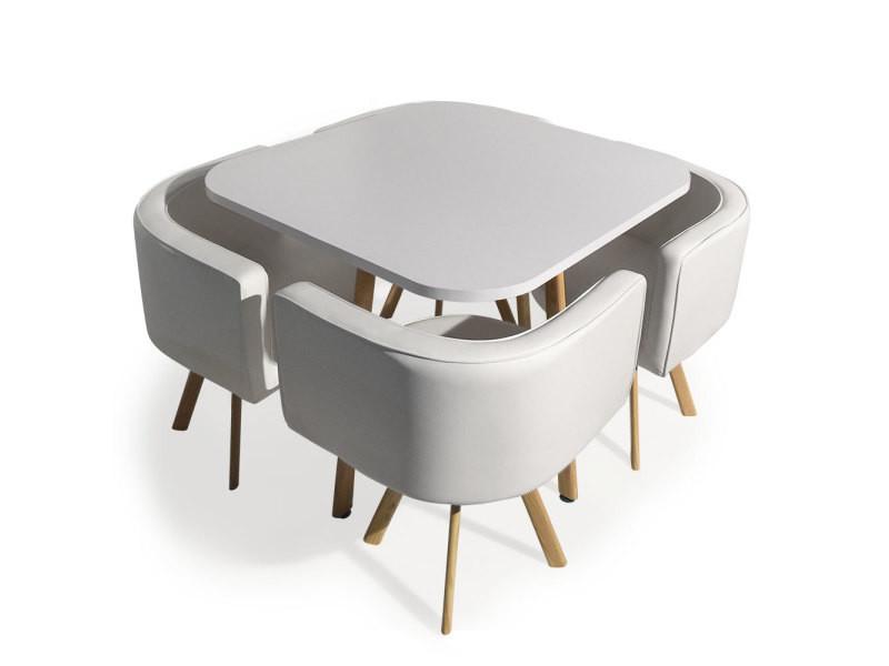 Table Et Chaises Scandinaves Oslo Blanc Vente De Table Conforama