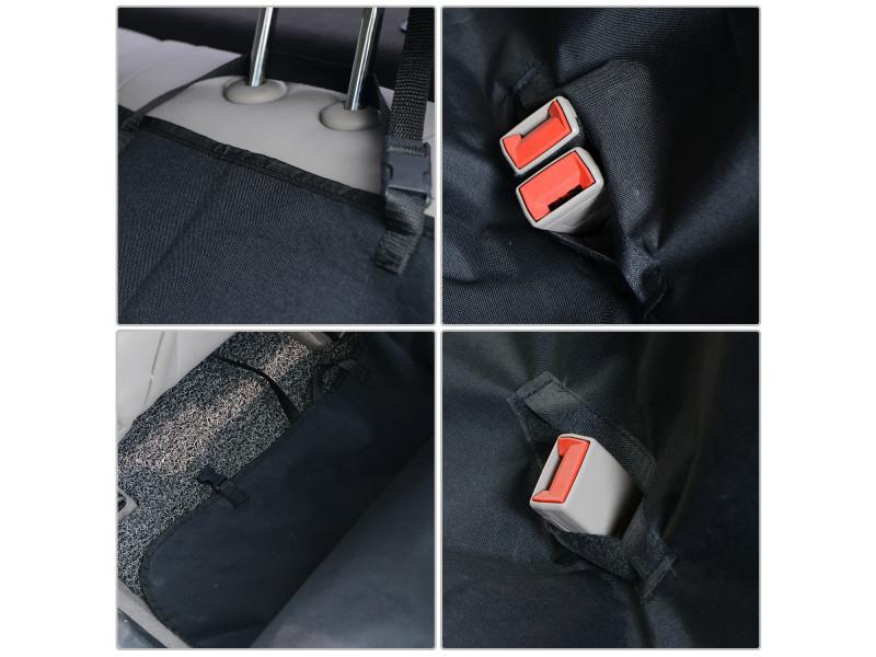 Pawhut Housse de si/èges arri/ères de voiture couverture tapis de protection imperm/éable chien chat 148L x 140l cm tissu oxford haute densit/é noir