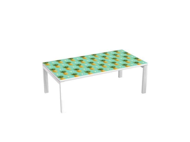 Cm Vente De Bureau Métalliques Basse 114x60 Ananas Pieds Table RLqj34A5