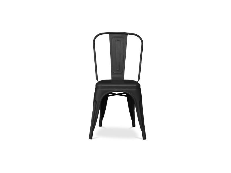 Chaise Tolix Style Noir Vente De Non Précisé Conforama