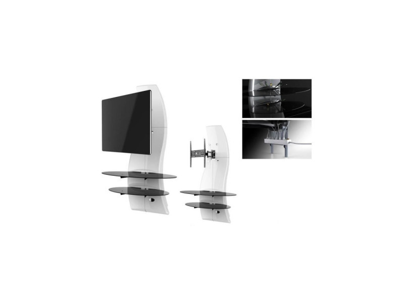 Ghost Design 2000 Rotation Meuble Tv Support Blanc Vente