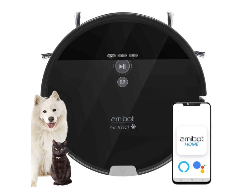 Robot aspirateur et laveur amibot animal xl h2o connect spécial poils d'animaux de compagnie AMIBOT Animal XL H2O Connect