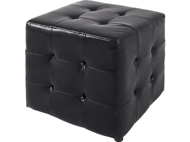 nouveau concept aa075 144cc Tabouret en bois massif et polyester noir, l43 x h38 x p43 ...