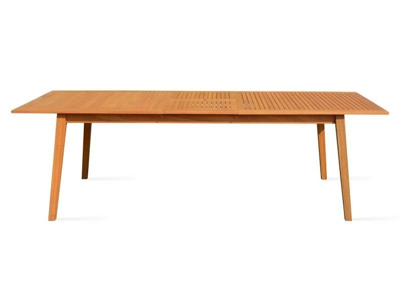 Table de jardin en bois extensible 200-250cm - Vente de Ensemble ...