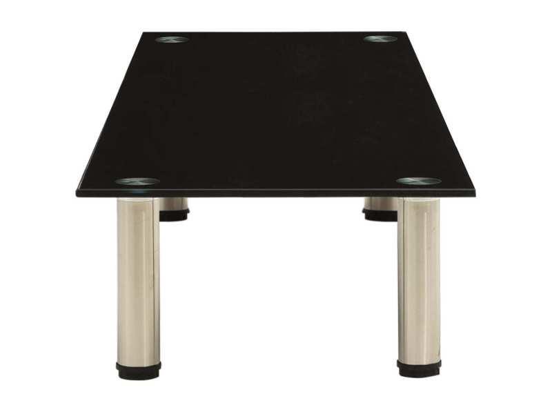 Vidaxl meuble tv noir 120x35x17 cm verre trempé 322770