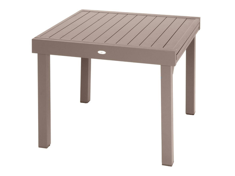 Table rectangulaire extensible piazza 8 personnes taupe ...