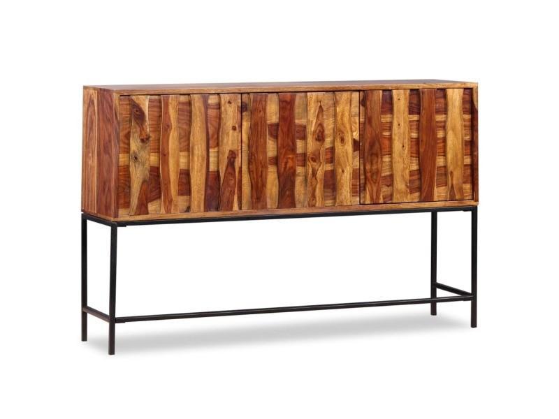 Vidaxl buffet bois massif de sesham 120 x 30 80 cm