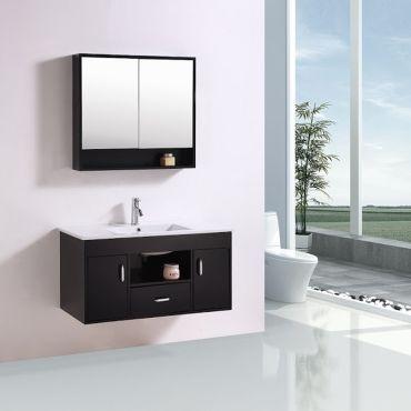 Le pos idon weng ensemble meuble de salle de bain en - Meuble vasque salle de bain conforama ...