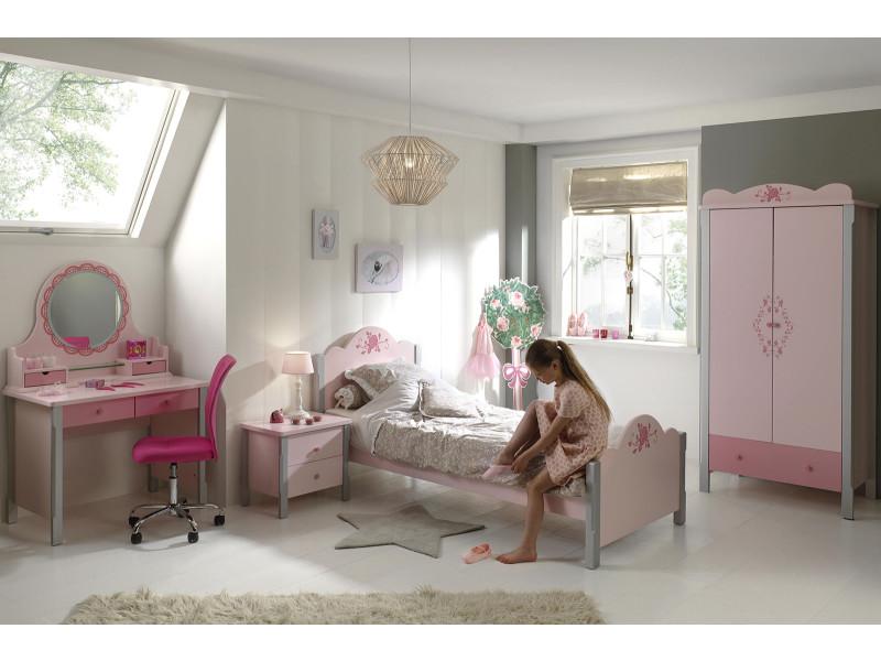 Sumeuble avec miroir pour bureau 100 cm pour chambre fille ...
