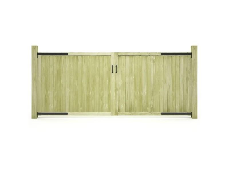 Vidaxl portillons de jardin 2 pcs bois de pin imprégné fsc 300x125 ...
