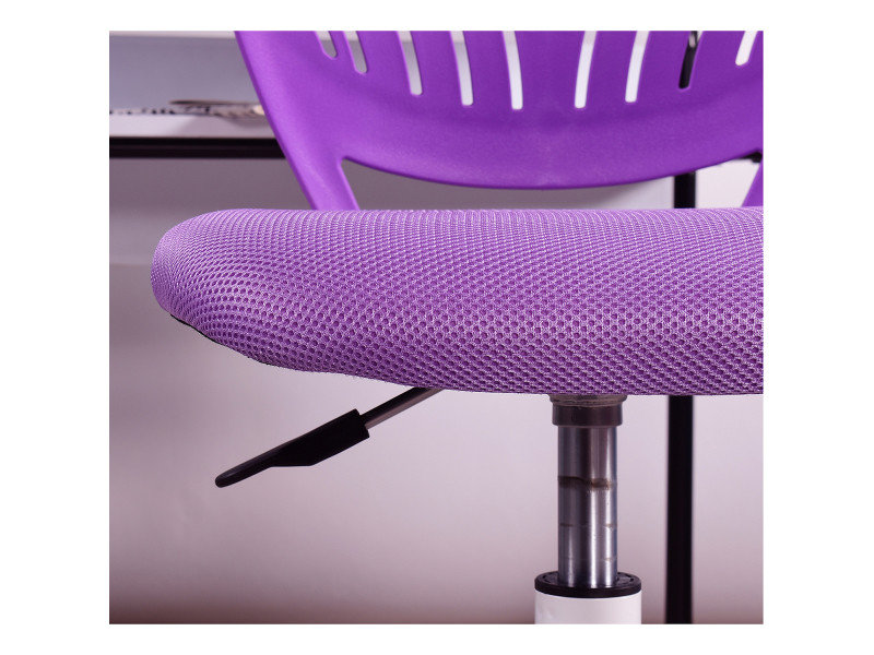Chaise de bureau enfant réglable roulettes violet Vente de