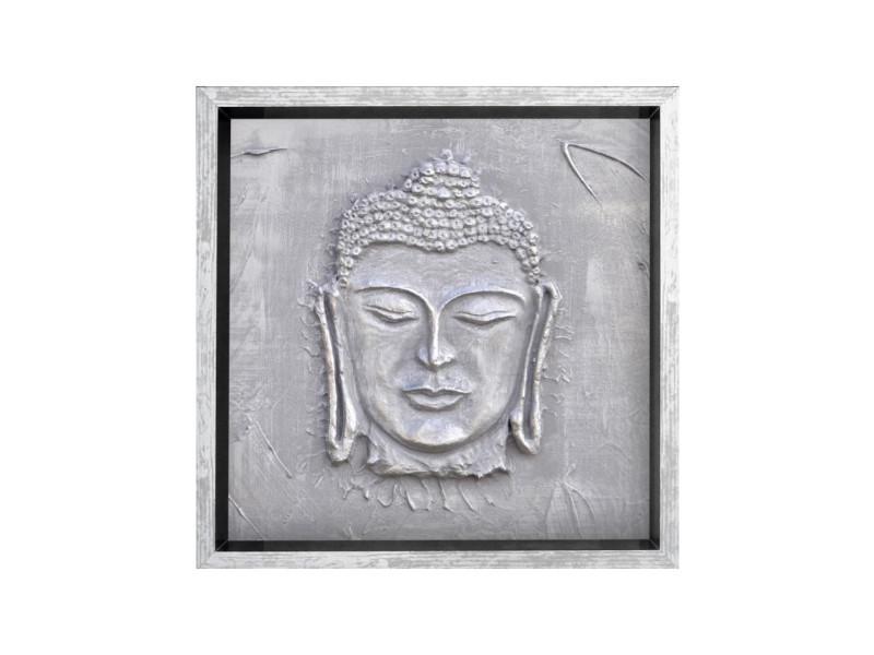 Bouddha Tableau Déco Cadre Coffre 33x33 Cm Blanc Vente De Cadre