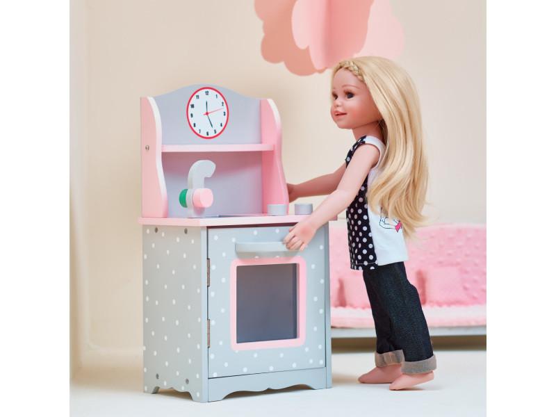 Meuble table 2 chaises en bois pour poupée poupon jouet Olivias Little World TD 0208AG