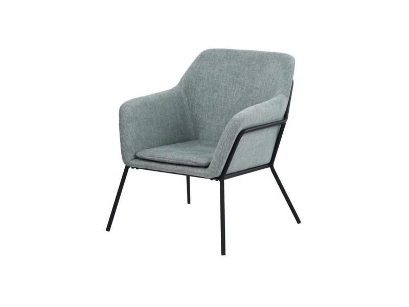 Nomade fauteuil - tissu vert clair - contemporain - l 72 x p 68 cm
