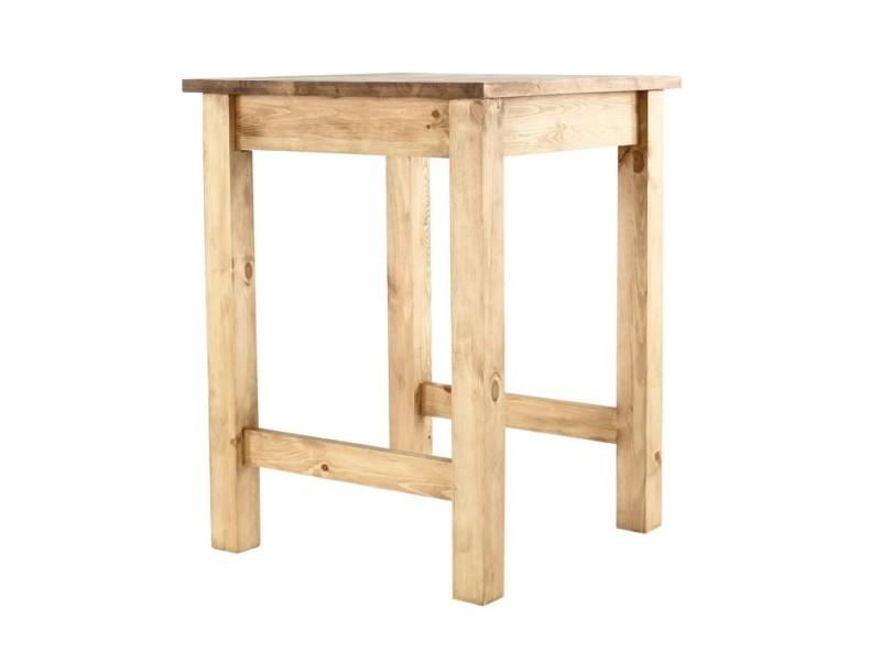 Table de bar pin massif 80 x 80 cm edelweiss - /miel - /miel