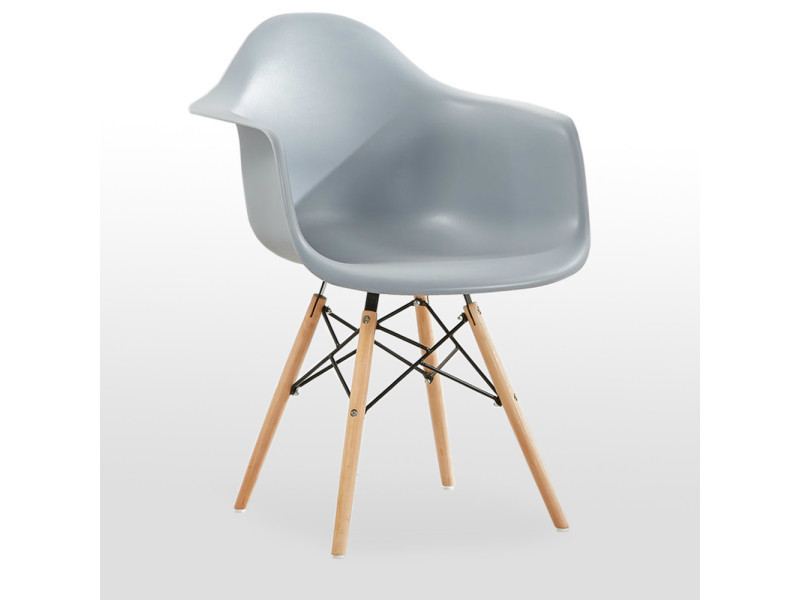 Chaise scandinave moda romano grise