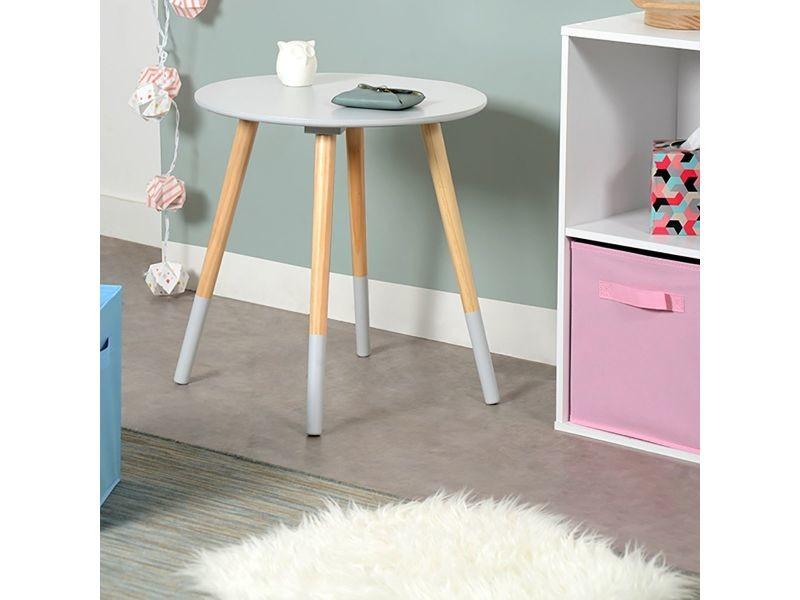 Bjarni table basse ronde grise vente de altobuy - Table basse ronde conforama ...