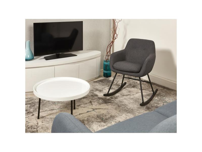 Rocking chair rock gris anthracite mat