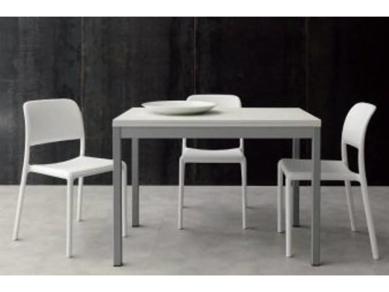 Table repas extensible split 70*140/110 cm blanche 20100850856