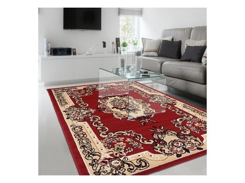 Tapis chambre bc aubusson rouge 120 x 170 cm belgique tapis ...