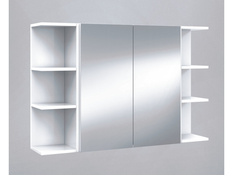 Set de elément haut de salle de bain avec miroirs + étagères d\'angle ...