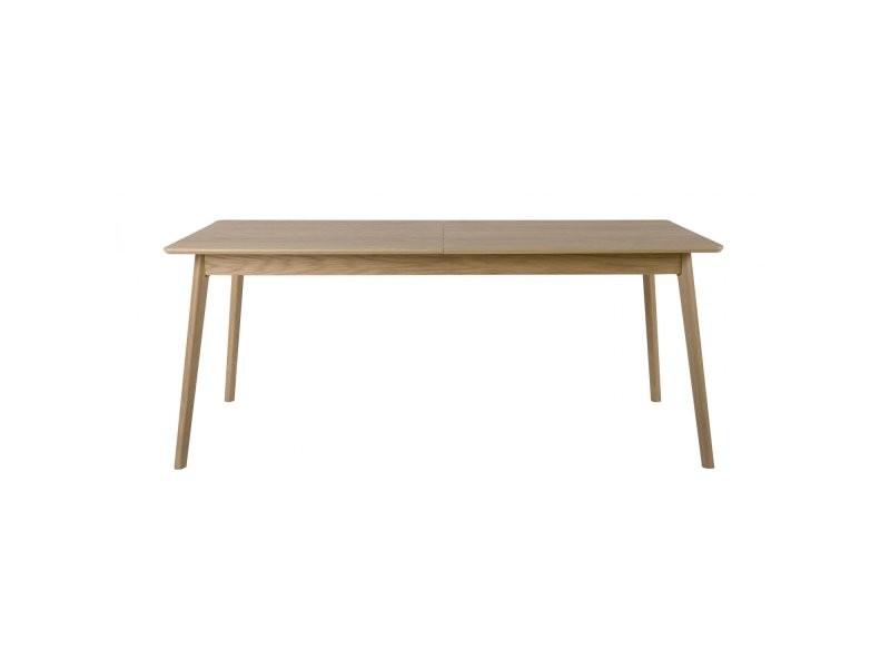 Table à manger extensible en bois l180/230xh75xp80cm ridley