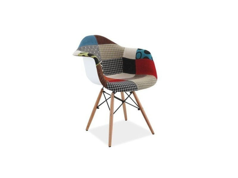 Chaise scandinave daw patchwork charles & ray eames multicolore dani TENDENCIO