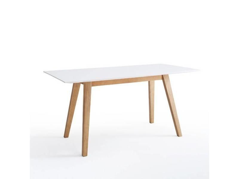 Table repas clement 160x80cm style scandinave laque blanc mat 20100880996