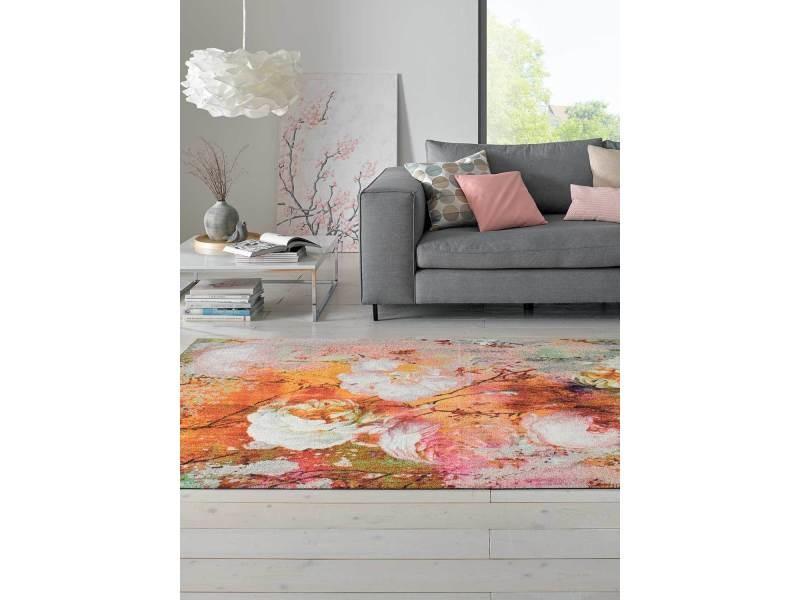 Tapis chambre loving rose tx orange 140 x 200 cm tapis de ...