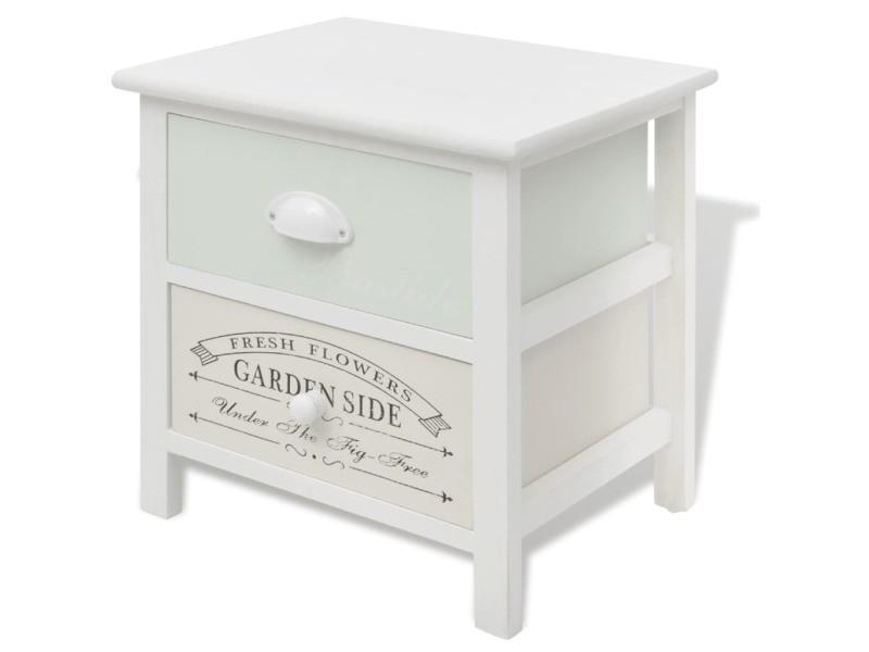 Vidaxl table de chevet en style français bois 242874