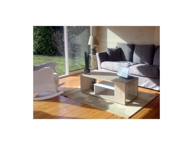 Table Basse Melina Meuble Moderne Et Tendance Couleur Chene Et