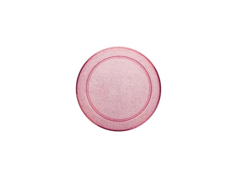 Frisbee à paillettes - d 22,5 cm - modèle aléatoire