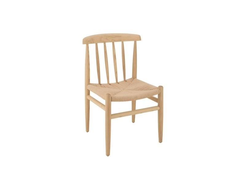 Chaise en bois naturel olfa 96083