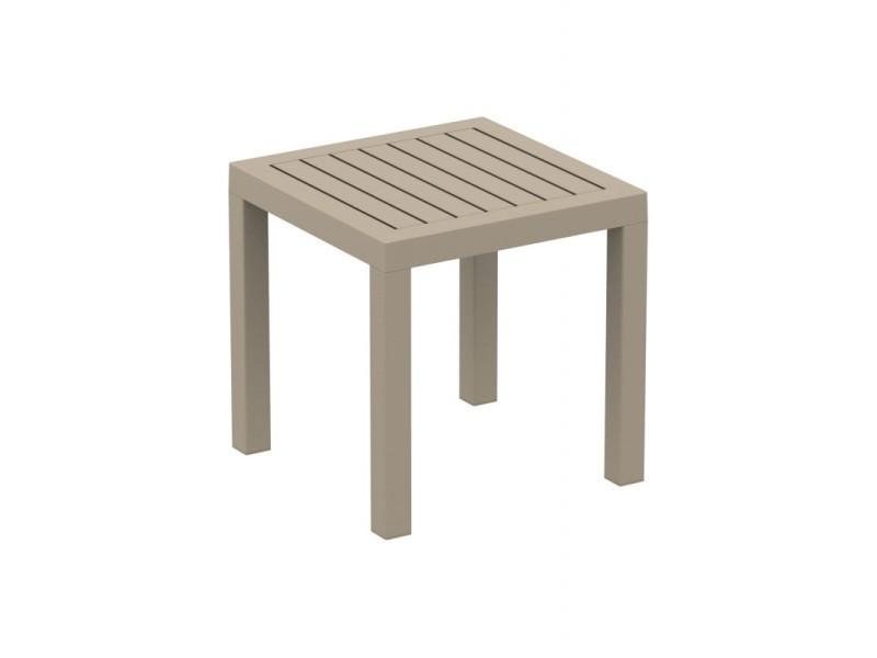 Petite en taupe table jardin de aux plastique résistante kTiPuOZX