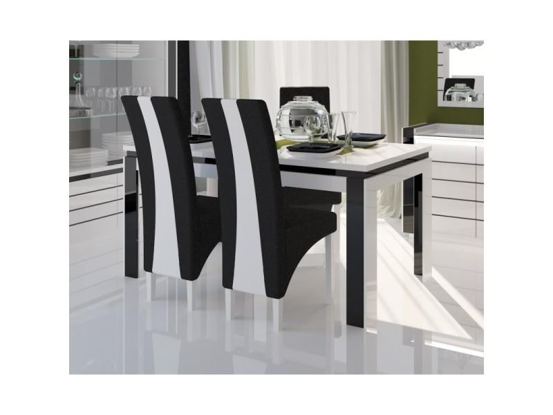 Table 160 cm + 6 chaises lina. Table pour salle à manger brillante ...