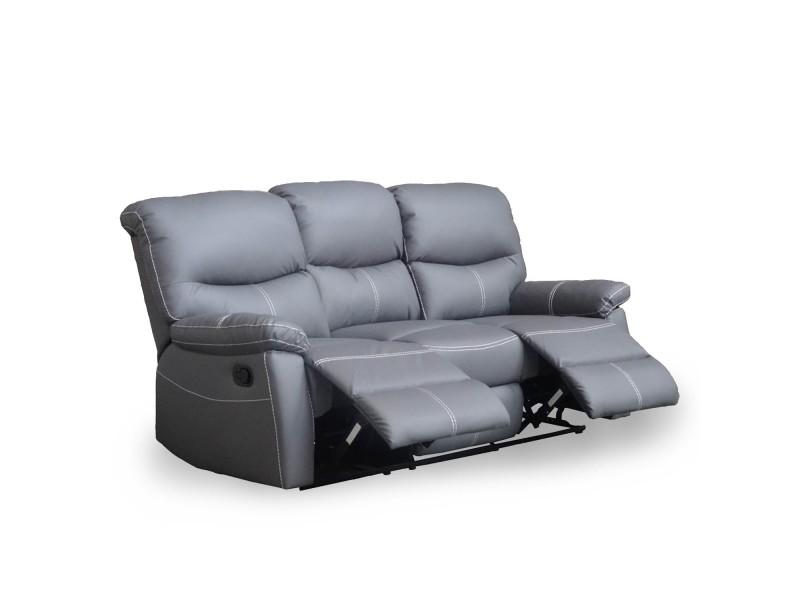 Canapé 3 places relax gris joey