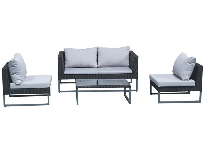 Salon de jardin gris/noir - clever ALU-D006 - Vente de DELORM ...