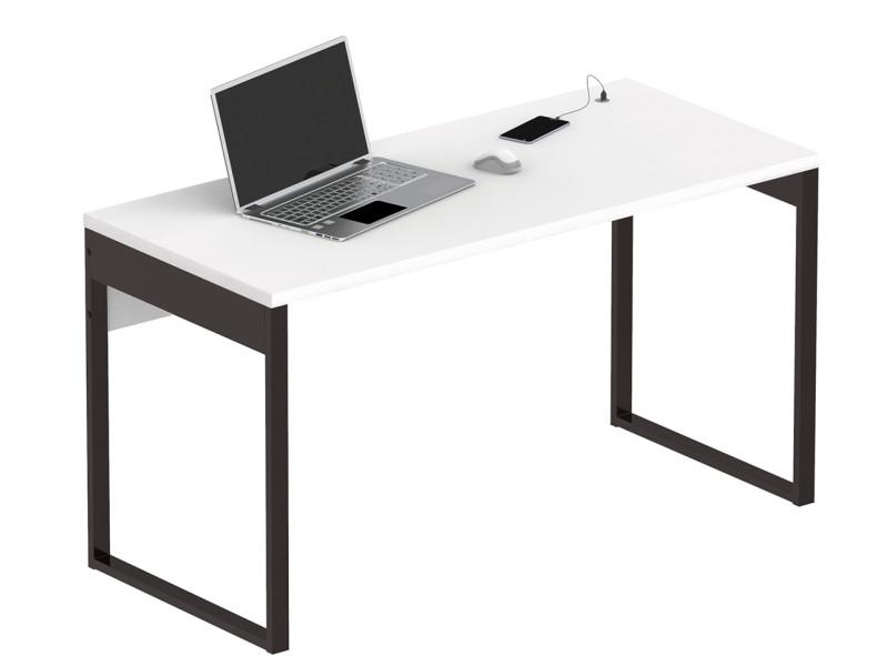 Bureau coloris gris argenté /noir - hauteur 76 x longueur 135 x profondeur 60 cm