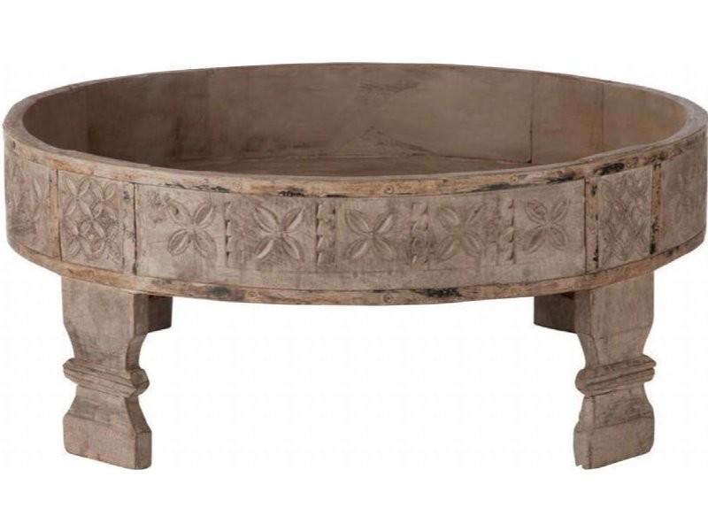 Table basse ronde bois gris bassendean 68898