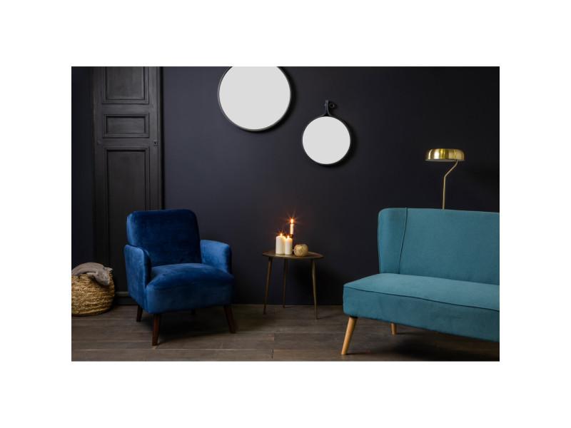 Brooks bleu foncé LCY rétro velours couleur fauteuil hdtQrxsC