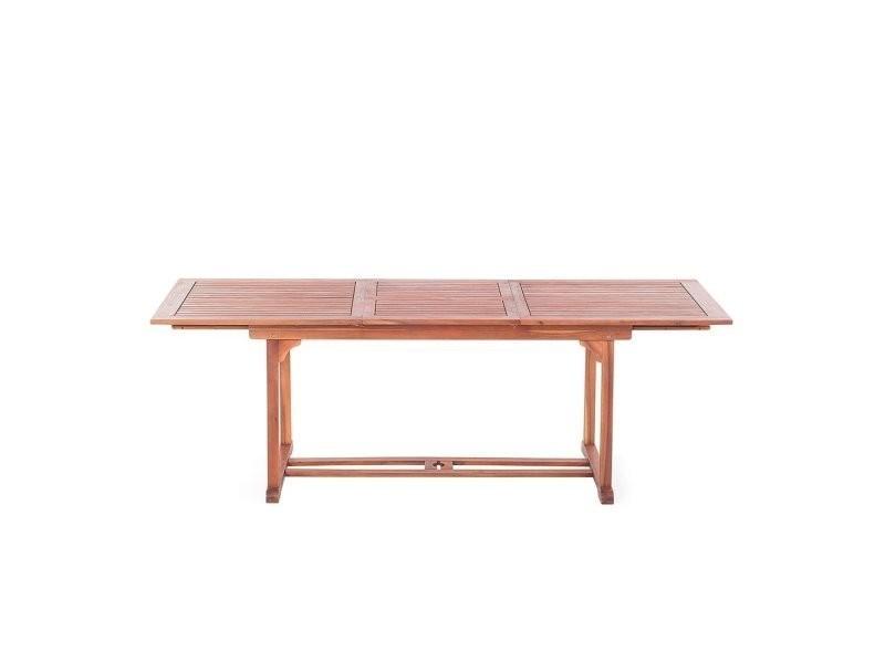 Table de jardin en bois avec rallonges toscana 2644 - Vente ...