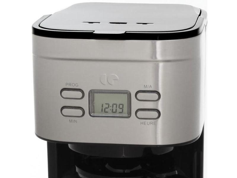CONTINENTAL EDISON CECF12TIX Cafetiere filtre programmable Inox